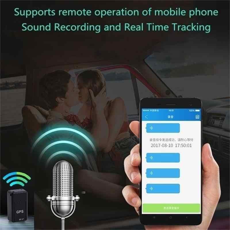 Mini GPS Tracker Mobil GPS Locator Anti-pencurian Tracker Real Time Gps Tracker Anti-Kehilangan Rekaman Pelacakan perangkat Kontrol Suara