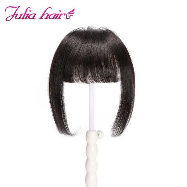 Ali Julia Air Bangs For Women Clip In Hair Extensions Brazilian Human Hair Bangs Remy Replacement Fringe Hairpiece (5)