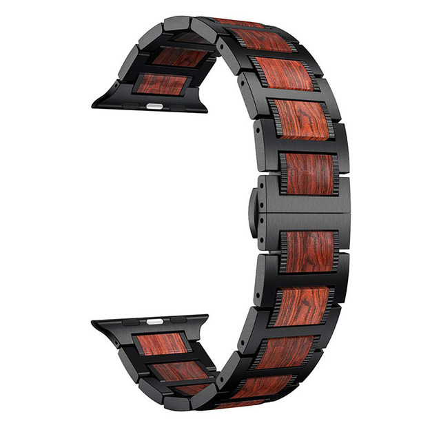 Band For Apple Watch iWatch Series 4 3 2 1 Wood Replacement Watch Band Wristband Strap For Apple Watch 38/40mm 42/44mm   Watchbands