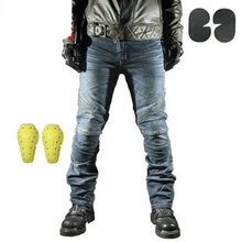 Pantalones vaqueros para motocicleta para hombre, equipo de protección para motocicleta, pantalones de Motocross, pantalones estilo motero
