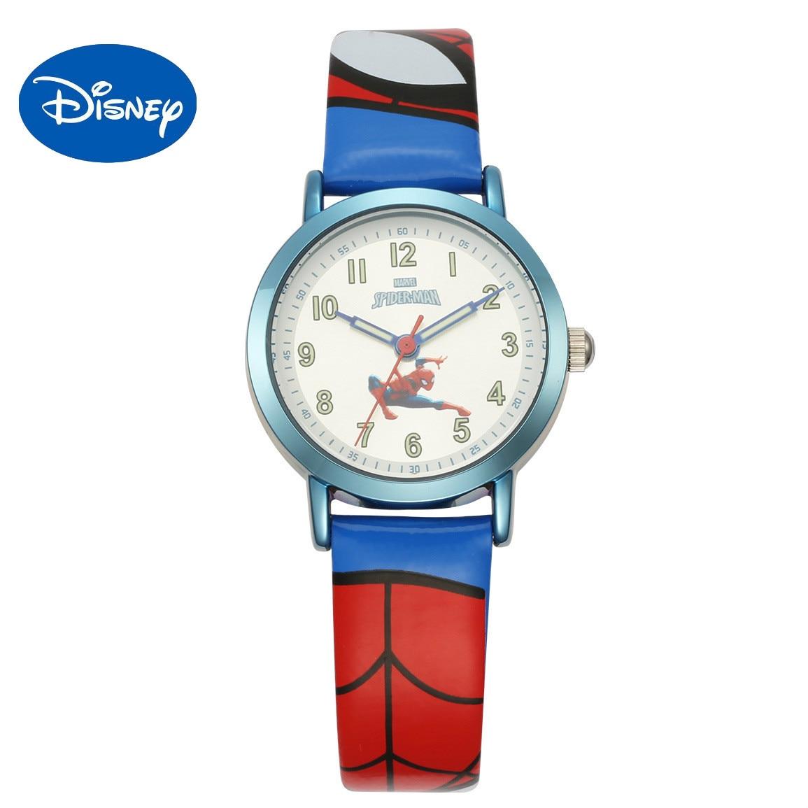 Оригинал Disney Marvel Animated Персонаж Часы Disney Дети 27 лет Часы Человек-паук Мальчик И Девочка Кварц Часы Водонепроницаемость