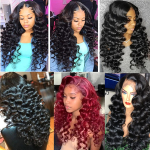 Image 3 - Karizma Loose Wave Human Hair Bundles With Frontal 4 Pcs Brazilian Hair Weave 3 Bundles With Frontal 13X4 Lace Closure Non Remy