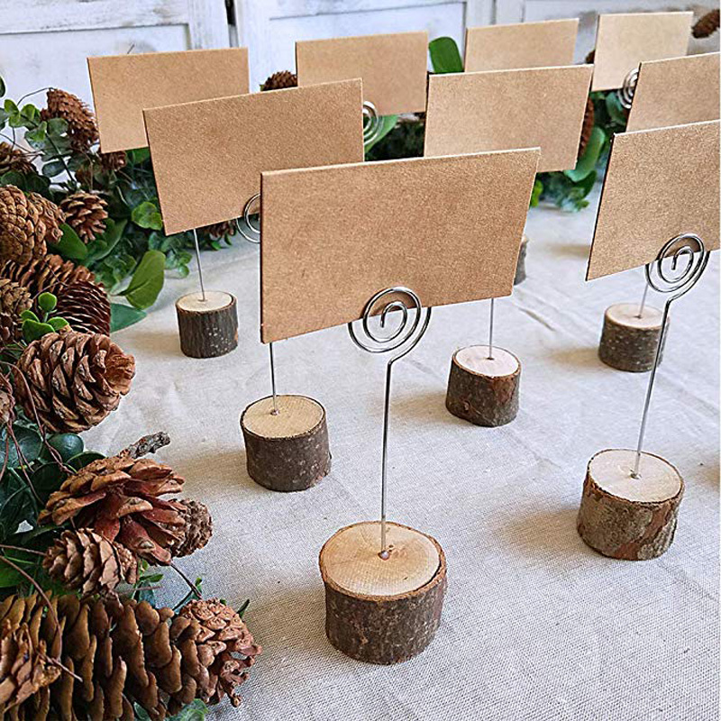 Rustic Wood Table Number Holder Wedding