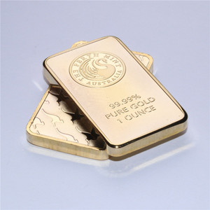 Weight about 31gram! 1 oz Gold Bar - Perth Mint Gold Bar (Non-magnetic) 50pcs/lot Dhl free shipping,replica gold clad bar