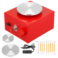DIY Пластилин инструмент с лотками для Керамика работа мини гончарный круг 6,5 Высота каблука 10 см или проигрыватель мини гончарная машина Эле...