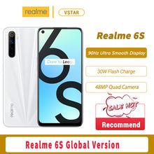 Оригинальная глобальная версия Realme 6s смартфон 6,5 Дюймов 90 Гц Экран 6 ГБ 128 Helio G90T Octa Core 30 Вт мгновенная зарядка русской версии