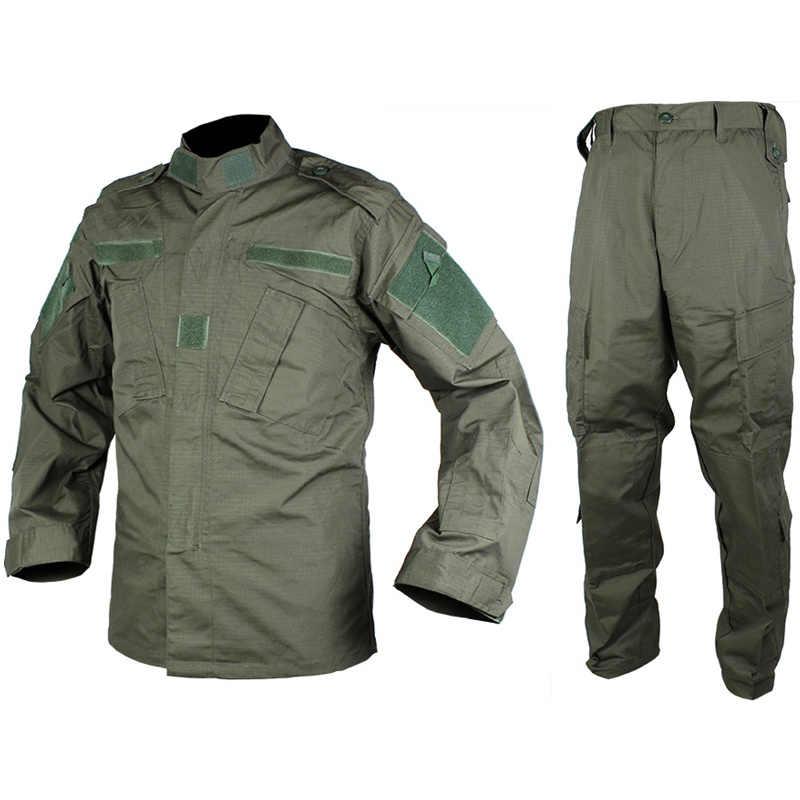Tactical Airsoft wojskowy mundur wojskowy BDU koszula bojowa i zestaw spodni Outdoor Paintball Training odzież myśliwska