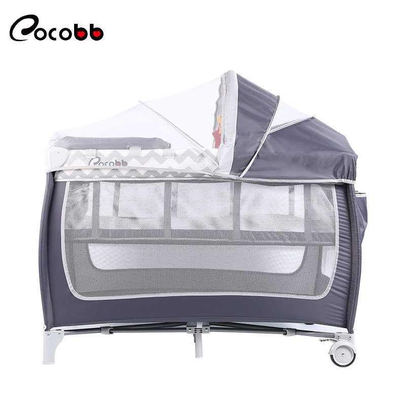 Multifunctional Foldable Crib Newborn Comforting And Shaking Portable Diaper Table Baby Bed