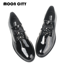 Купить с кэшбэком 2020 Brand Patent leather Women Loafers New Style Spring Ladies Oxford Shoes Black Casual Dress Footwear Woman's Office Flats