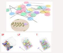 Épingle à coudre en forme de prunier, 100 pièces/paquet, bouton de nœud papillon, épingles à fleur patchwork, accessoires de couture