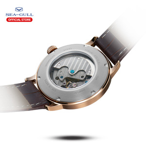 Image 4 - Seagull Business Watches Mens Mechanical Wristwatches 50m Waterproof Leather Valentine Male Watches 819.22.6075