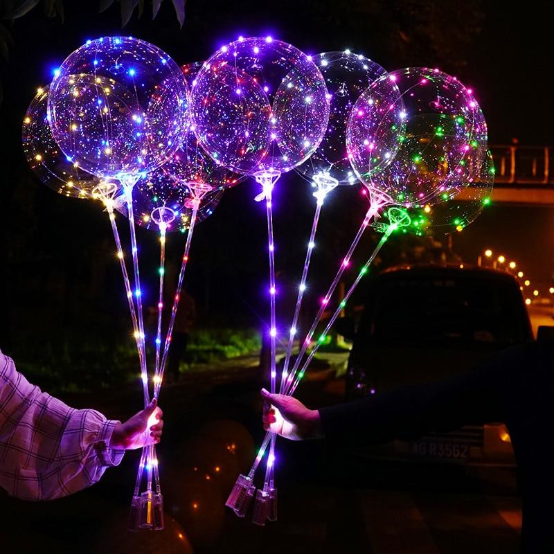 10 упаковок светодиодный светильник вверх светящиеся воздушные шары BoBo украшения в помещении или на открытом воздухе, дня рождения, свадьбы,...