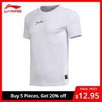 Li-Ning Männer SCHLECHTE FÜNF Basketball Jersey BEI SMART T-Shirt 73% Baumwolle 27% Polyester Futter li ning Sport t AHSN073 MTS2794