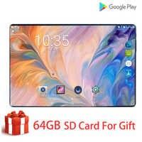 2020 novo 10 polegada tablet pc octa núcleo android 9.0 wifi duplo sim cartões 4g lte comprimidos 10.1 6 gb ram 128 gb rom + 64g cartão de memória presente