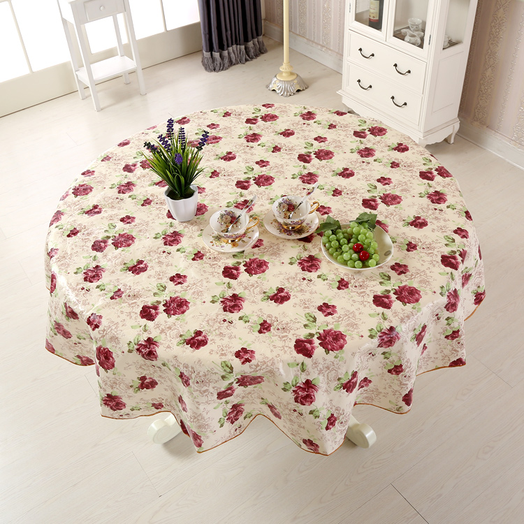 Waterproof Table Cloth Oil Round Tablecloth Flower PVC Tablecloth Home Kitchen Dining Tischdecke Tafelkleed Nappe Manteles JH6