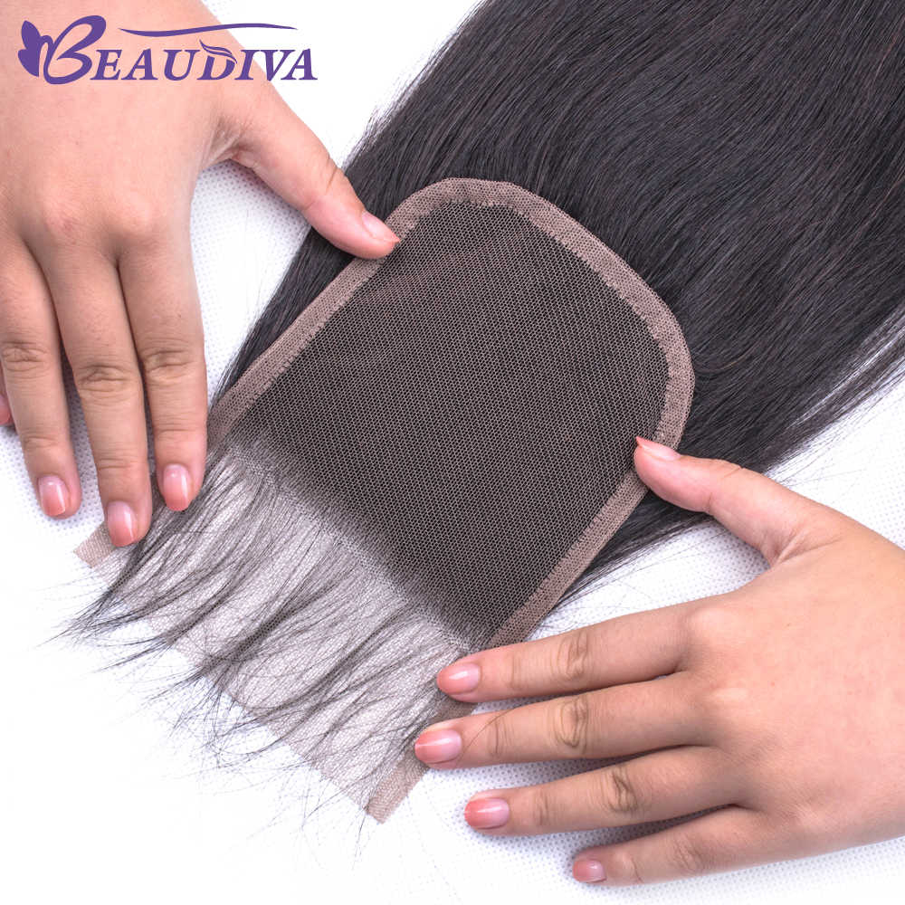 Beaudiva Hair Bundles With Closure Brazilian Straight Hair Weave Bundles With Closure Human Hair Bundles With Closure Remy Hair