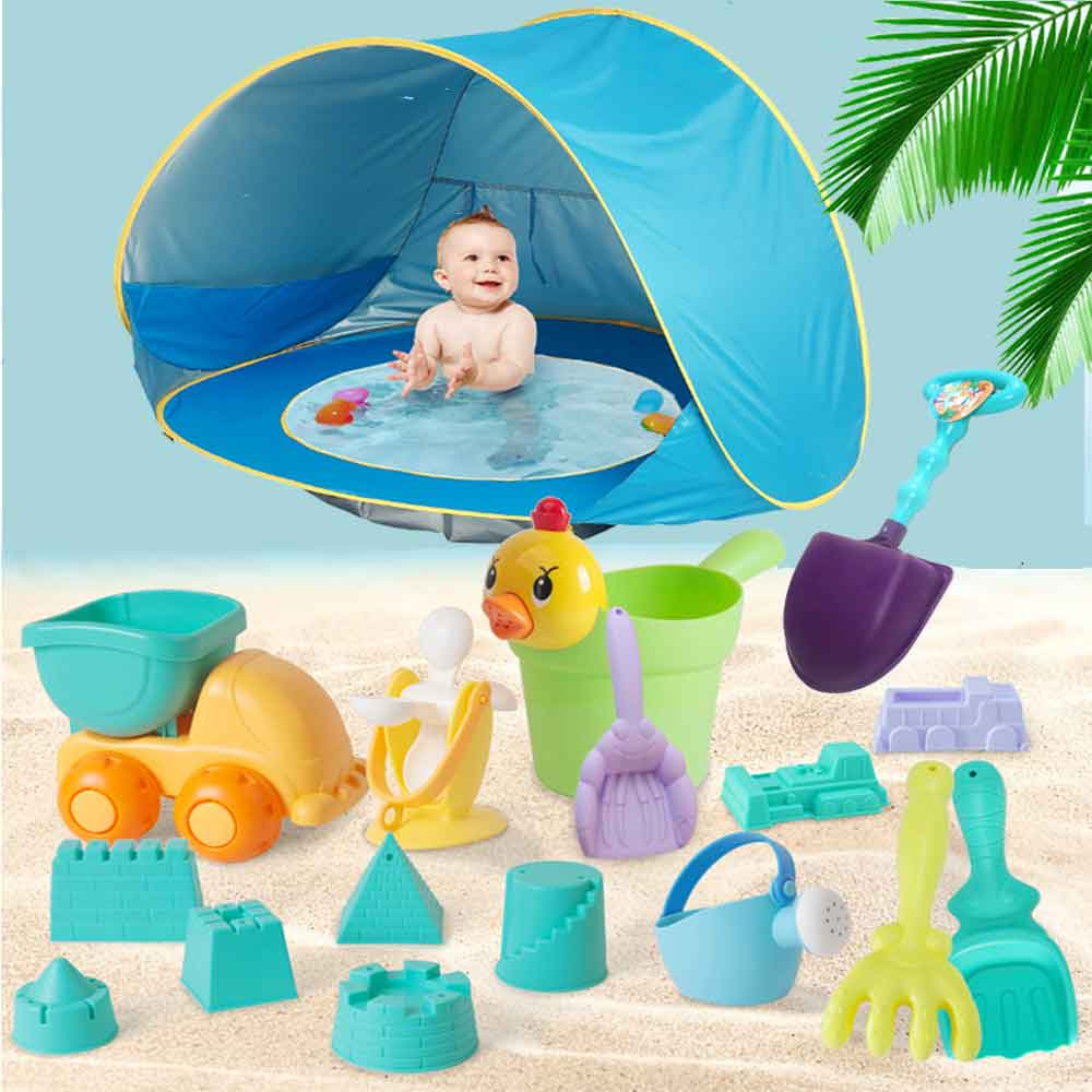 Baby Portable Outdoor Beach Tent  Summer Uv-protecting Shelter Children Beach Pool Playing House Waterproof Pop Up Awning Tents
