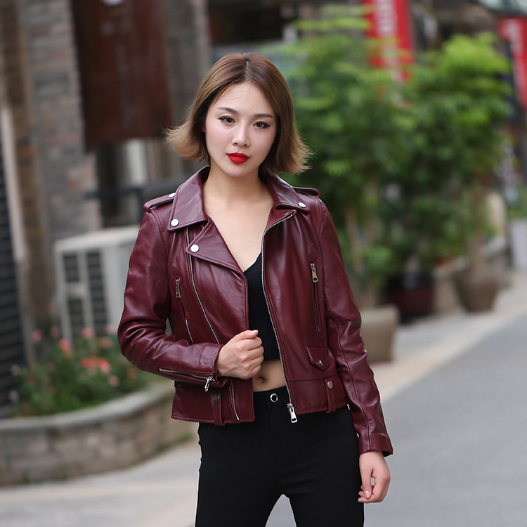 Winter Genuine Leather Jacket Women Clothes 2019 Streetwear Moto Real Sheepskin Coat Female Genuine Outwear Hiver LW1679