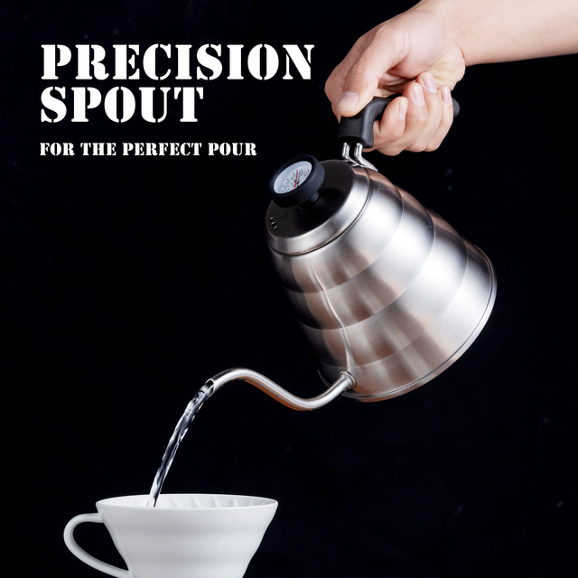 Stainless Steel Pour-Over Kettle With Thermometer 6