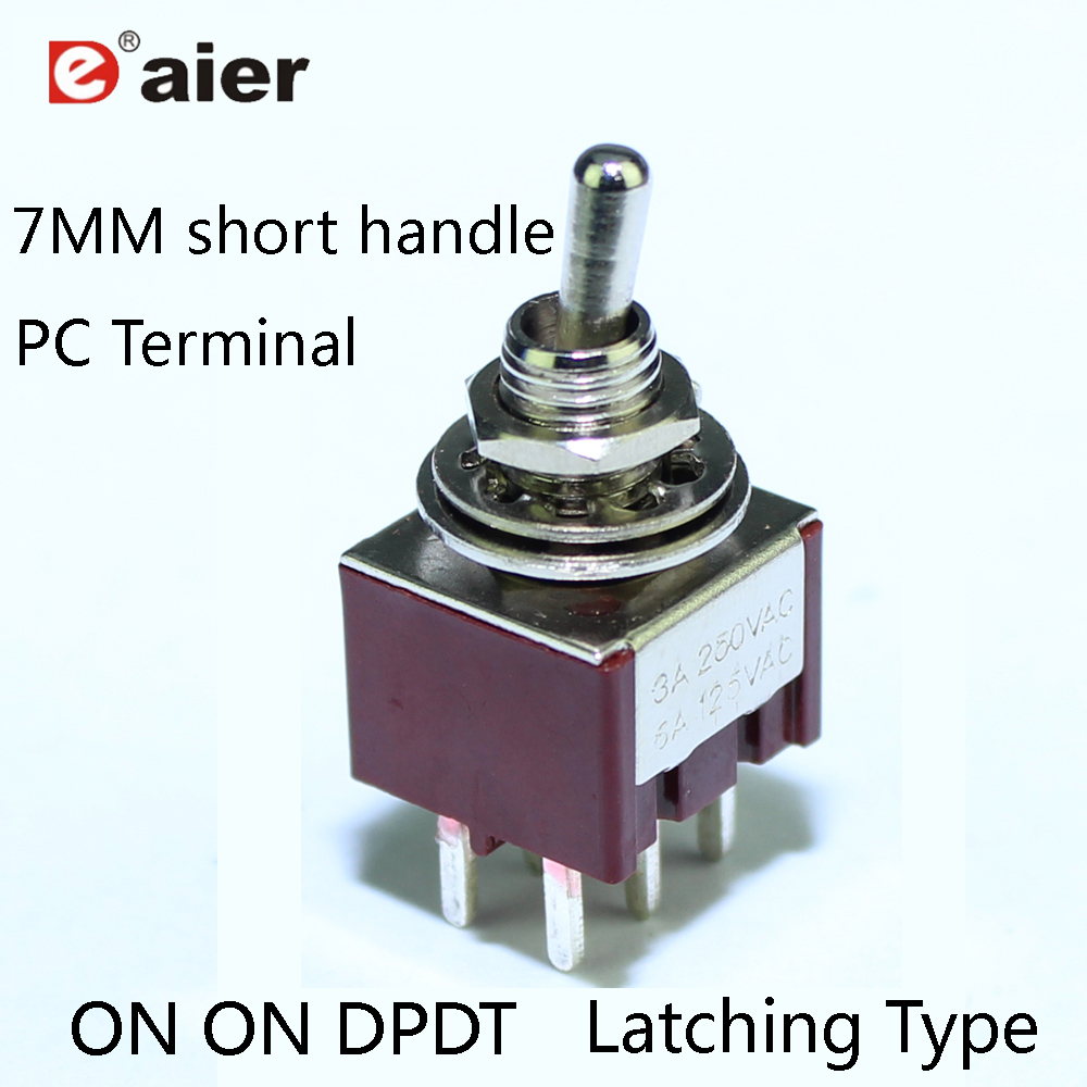 USA SELLER!!! 1pc DPDT Latching Foot Switch ON//ON GUITAR EFFECTS pedal Bypass