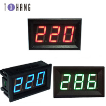 цена на DC 5V-120V digital voltmeter LED display panel 2-wire voltage test meter electronics meter ammeter