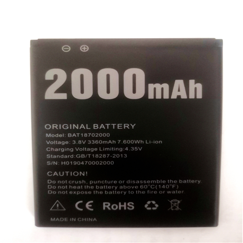 New Doogee X50 Battery 2000mAh Polymer Li-ion 3.8V Batteries For Doogee X50 Phone <font><b>BAT18702000</b></font> with phone stander for gift image