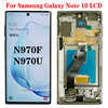 Original 6.3'' AMOLED for SAMSUNG Galaxy Note 10 N970F note10 N970 N9700 LCD with Frame Display Touch Screen Digitizer Assembly