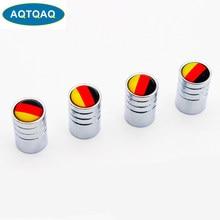 AQTQAQ 4 pcs/lot allemagne drapeau voiture vélo Moto pneus roue Valve bouchons pneu jante couvre voiture style tige couverture accessoires décoration