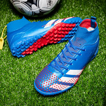 New Men Football Boots Outdoor HighTop Sneakers Kids Soccer Shoes Cleats Athletic Sport Shoes AG/TF Profession Outdoor sneakers