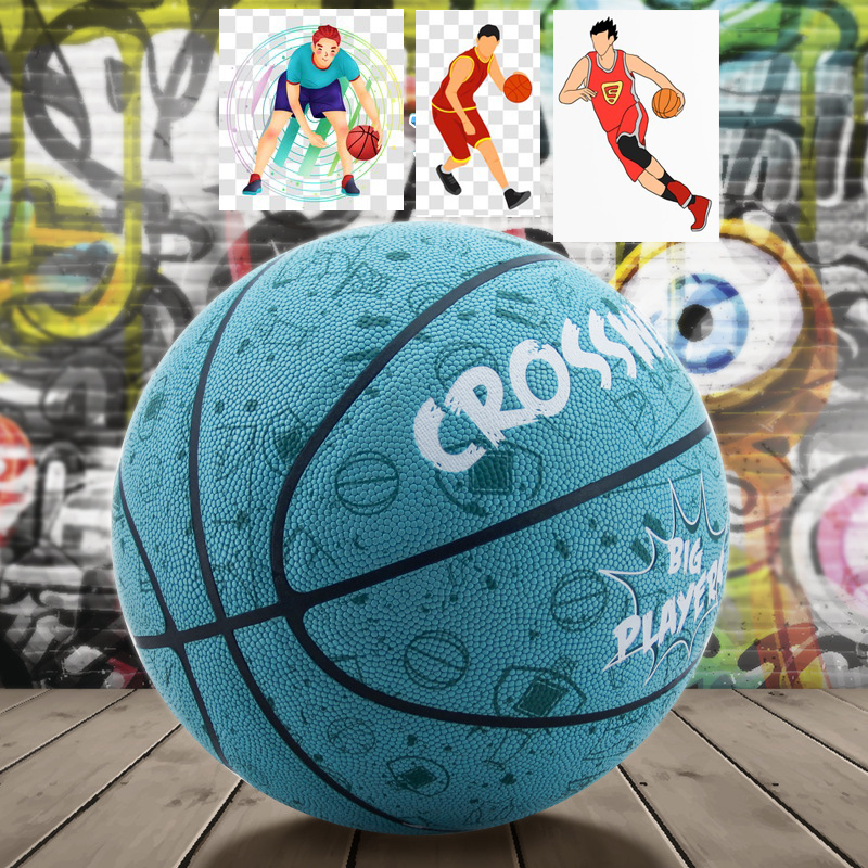 PU Non-slip Wear Resistant Basketball Outdoor Freestyle Ball 7 Balon Street Basketball Sports Competing Training Game Baloncesto