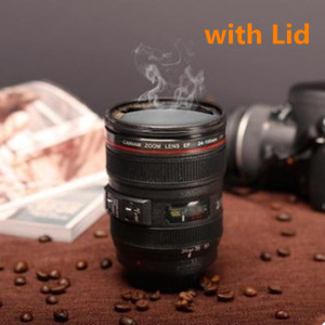 New Caniam SLR Camera Lens 24-105mm 1:1 Scale Plastic Coffee Tea MUG 400ML Creative Cups And Mugs With Lid