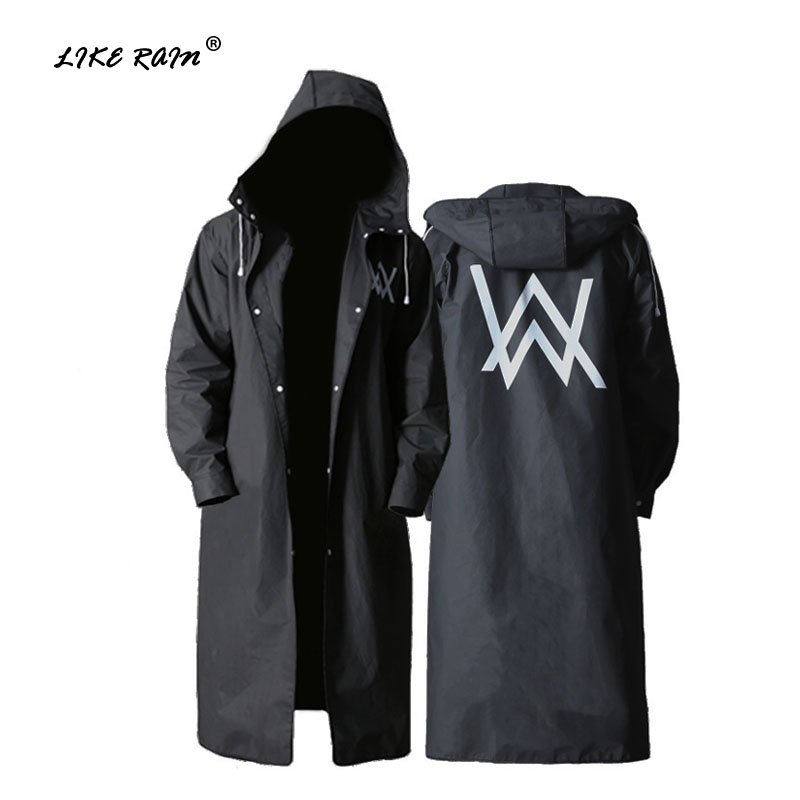 LIKE RAIN Stylish EVA Adult Raincoat Men Outdoor Walker Rain Suit Waterproof Rainwear Hiking Poncho Environmental Rain Coat RC06