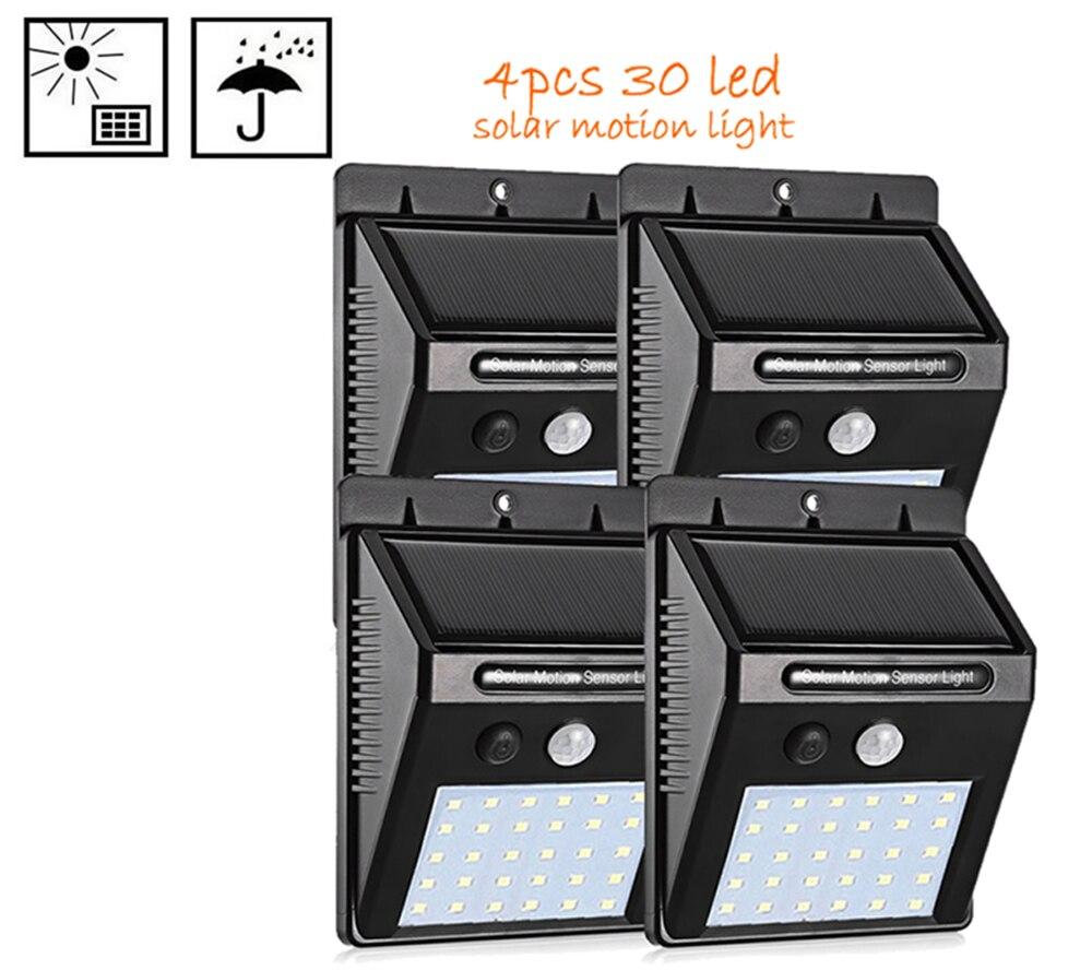 2/4PCS 30 LED Solar Light Waterproof IP65 PIR Motion Sensor Outdoor Garden Light Motion Activated Emergency Wall yard solar lamp|Solar Lamps| |  - title=