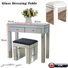 Crystal Mirrored Console Glass Desk Bedroom Dressing Makeup Table Livingroom Display table