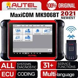 Autel MaxiCOM MK906BT OBD2 Scanner Advanced Diagnostic Tool Bluetooth Scanner Automotivo ECU Coding PK MaxiSys MS906BT MS906