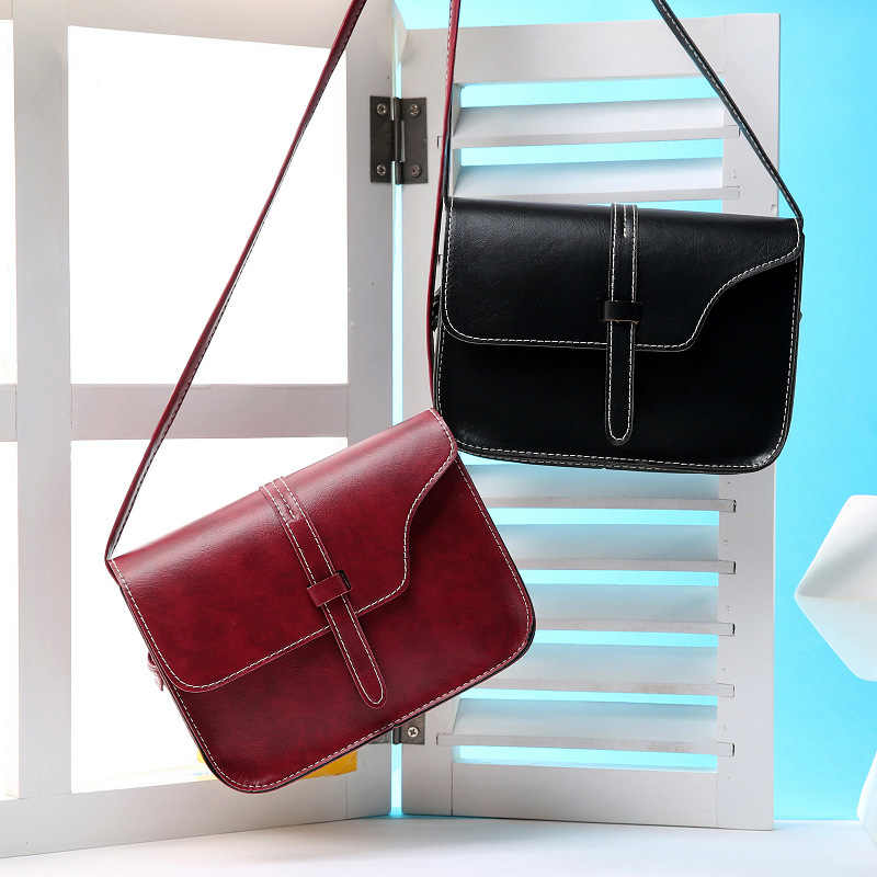 Crossbody Bags for Women Fashion Leather Small Bags Solid Designer Messenger Flap Clutch Handbag 2019 New