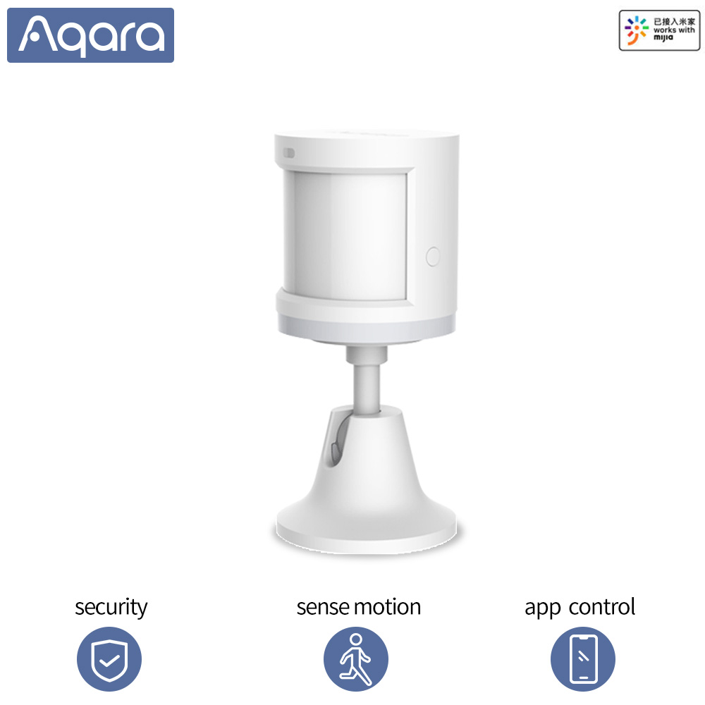 Sensor de movimiento Aqara PIR Sensor de cuerpo humano vida inteligente Zigbee WIFI trabajo Mi aplicación para hogares casa inteligente