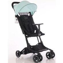 2019 nouveau confortable couleur pure dextous bébé poussette multifonctionnel bébé poussette