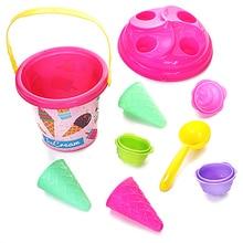 Children Outdoor Beach Ice Cream Bucket Model Play Sand Sandpit Summer Beach Play Toys ABS Material