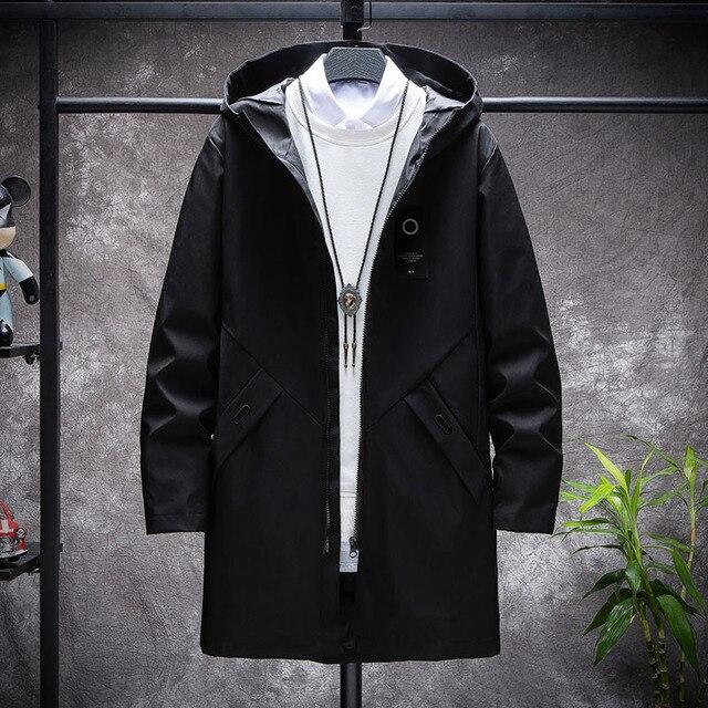 KOLMAKOV 2021 New Men's Thin or Thick With Velvet Windbreaker Men Hooded Printed Overcoats Casual Long Trench Coats Male M-4XL 5