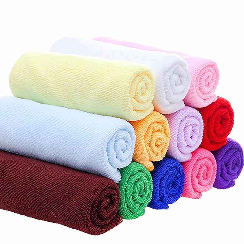 DIDIHOU 30x70cm Small Polyester Absorbent Hand Towel Microfiber Towel Quick-Drying Bath Towel Bathroom Kitchen Towels Supplies