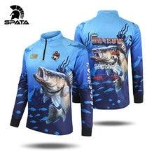 2020 New SPATA Fishing Clothing Anti UV Summer Man Fishing Clothes Sunscreen Breathable Moisture wicking Quick Dry Fishing Shirt