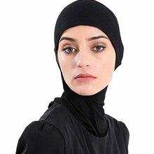 Мусульманский внутренний хиджаб головные уборы готовы носить мгновенный Hidschab Muslima Шаль Исламская повязка на голову головной убор