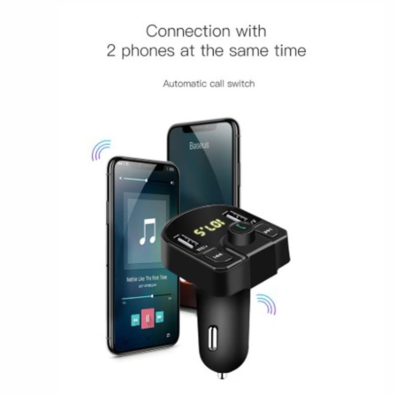 Dual USB Car Charger Wireless Bluetooth Handsfree PhoneMP3 Player FM Transmitter