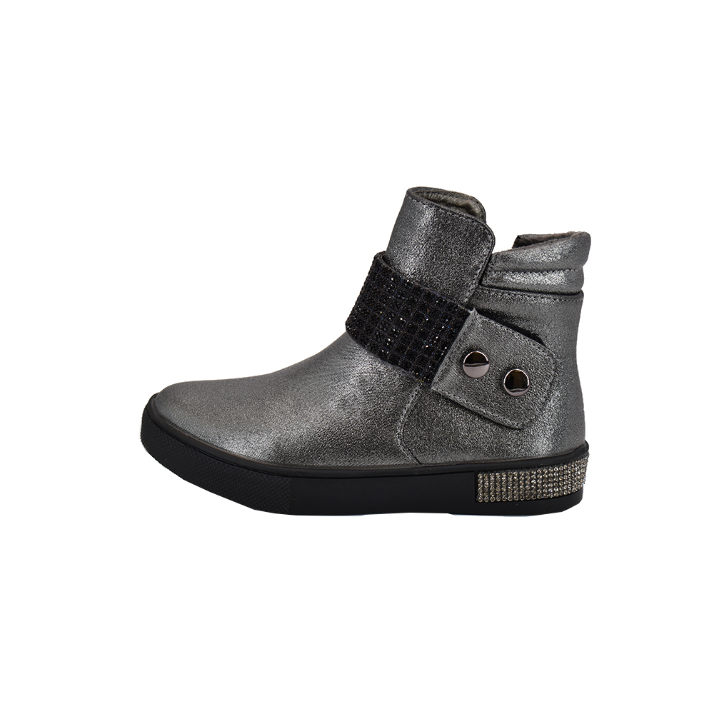 Bessky /2020 NEW ; Fall-Winter; Martin Boots Children's Shoes; Winter Boots For Boys And Girls; Silver Fashion Shoes For Kids