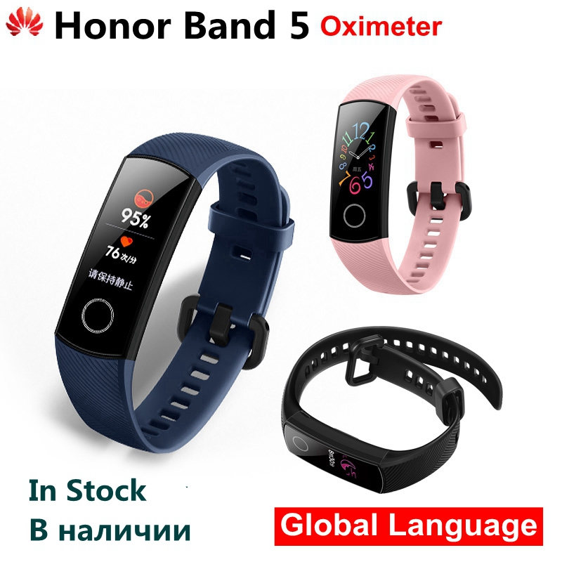 Original Huawei Honor Band 5 Smart Wristband Oximeter AMOLED Touch Color Screen Swim Posture Detect 5ATM