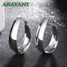 Najwyższej jakości biżuteria ze srebra próby 925 w kształcie litery U kolczyki Hoop dla kobiet biżuteria najlepszy prezent