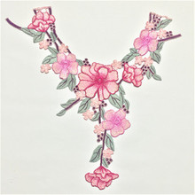 1pc new water soluble color embroidery collar flower high quality clothing accessories lace handmade DIY