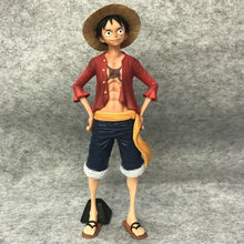 Anime One Piece Monkey. d. 28 centímetros Luffy Chapéu de Palha Luffy PVC Action Figure Estatueta Colecionável Modelo de Brinquedo de Presente de Natal(China)