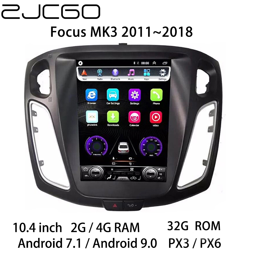 Car Multimedia Player Stereo GPS DVD Radio Navigation Android Screen For Ford Focus MK3 2011 2012 2013 2014 2015 2016 2017 2018